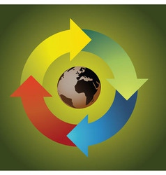 Recycle earth vector image