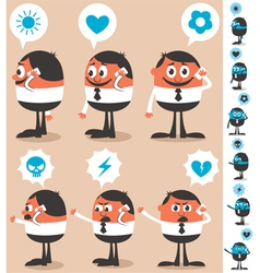 Talking on Phone vector image vector image