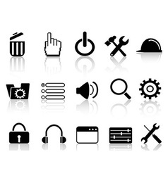 web work tool icons vector image