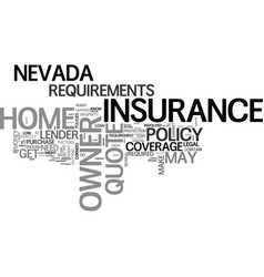 what goes into a nevada home owner insurance vector image vector image