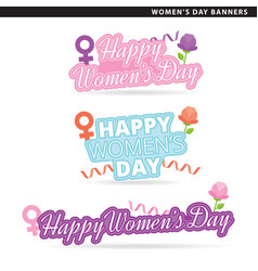 womens day banners vector image vector image