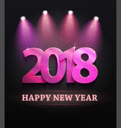 2018 new year count symbol with spotlights vector image