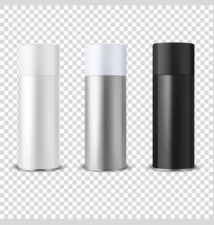 3d realistic white blank spray can bottle vector image