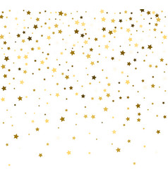 Abstract pattern of random falling gold stars on vector
