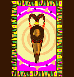african wooden mask vector image