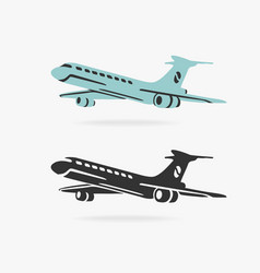 Airplane sign vector