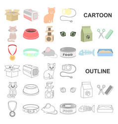an animal cat cartoon icons in set collection for vector image