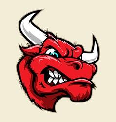 Angry Bull Head Mascot vector