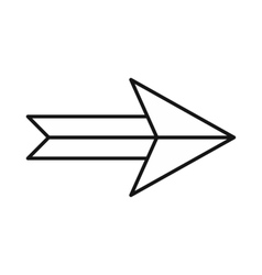 Arrow icon in outline style vector image