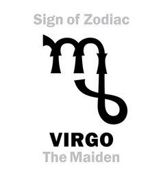 Astrology sign zodiac virgo maiden virgin vector