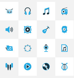 Audio colorful icons set collection of radio vector
