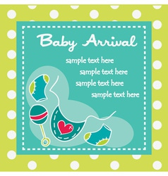 Baby arrival for boys vector image