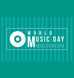 background of world music day celebration vector image