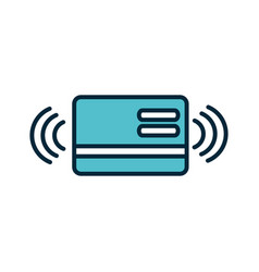 bank card transaction internet things line and vector image