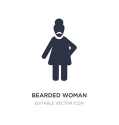 Bearded woman icon on white background simple vector