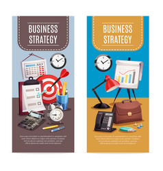 business office 2 vertical banners vector image