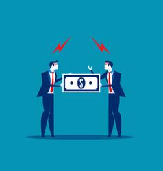 business team compeition quarrel between vector image