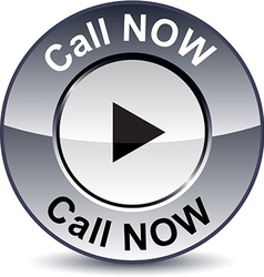 Call Now round button vector image