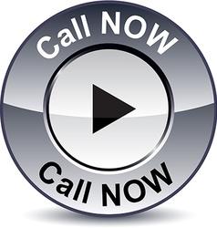 Call Now round button vector