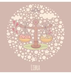Cartoon scales libra vector