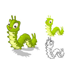 Caterpillar Cartoon Character vector image