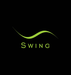 cool and elegant swing text logo vector image