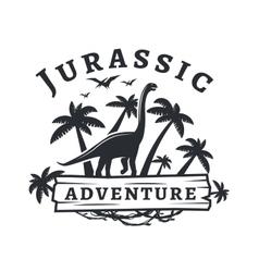 Dinosaur logo concept Sauropod adventure vector