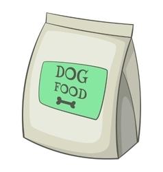 Dog food bag icon cartoon style vector image
