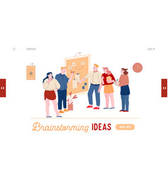 Employee brainstorm search solution website vector
