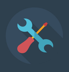 Flat modern design with shadow icons wrench vector