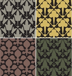 Four Victorian Seamless Patterns vector image