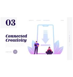 Free download website landing page people vector