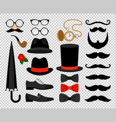 gentleman vintage accessories vector image