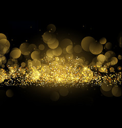 Glittery gold sparkle background vector