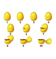 golden eggs 10 steps animations egg vector image
