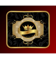 golden label for packing vector image vector image