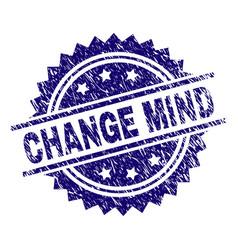 Grunge textured change mind stamp seal vector