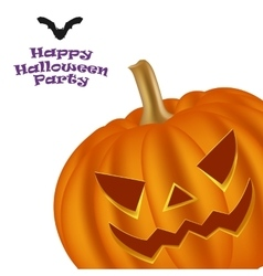 Halloween pumpkin on a white background vector