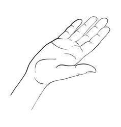 Hand drawn woman vector