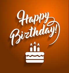 Happy birthday greeting text vector