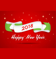 happy new year design with trendy retro style vector image