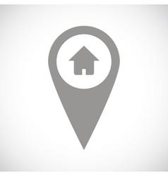 Home pointer black icon vector