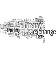 How to improve your knowledge of forex vector