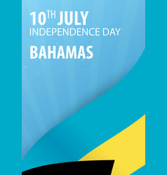 Independence day of the bahamas flag and vector