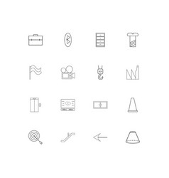 Industry simple linear icons set outlined icons vector