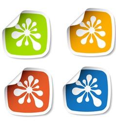 ink blot stickers vector image
