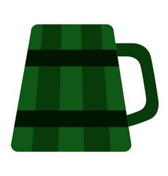 Isolated beer icon patrick day vector