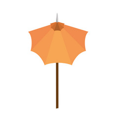 isolated cute umbrella vector image
