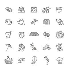 japanese theme icon set vector image