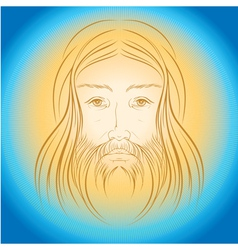 Jesus Christ shine light gloride rays vector image